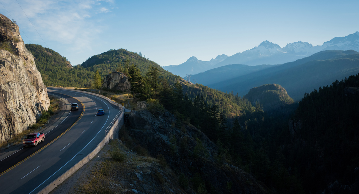sea to sky highway report Lower mainland - hwy 99 (sea-to-sky highway) function junction - n hwy 99 at cheakamus lake rd & alpha lake rd, 5 km south of whistler, looking north function junction - w hwy 99 at cheakamus lake rd & alpha lake rd, 5.